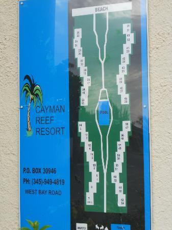 Cayman Reef Resort: Layout of condos