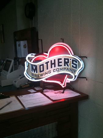 Mother S Logo Sign Picture Of Mother S Brewing Company