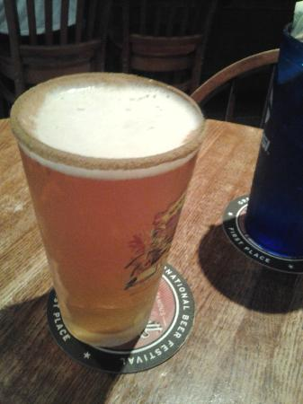Boucher's Wood River Inn: Pumpkinhead with cinnamon & sugar on the rim - yum!