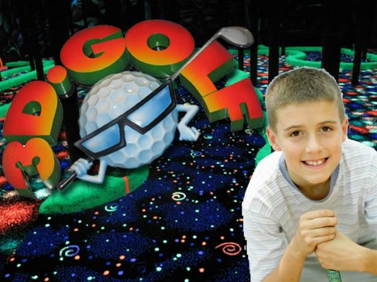 The Great Escape: 3D Indoor Mini Golf - it glows!