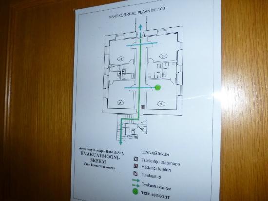 Arensburg Boutique Hotel & Spa : Floor plan