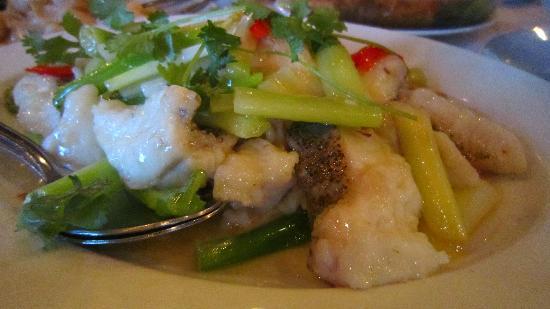 East Villa Restaurant : Steamed fish (fileted)