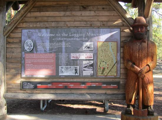 ‪‪Collier Memorial State Park‬: Sign to Logging Museum