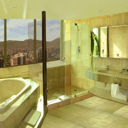 Boulevard Suites: Vista Baño en suite cubierta de mármol en todas las suites.