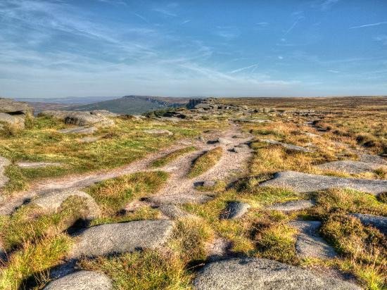 It can be an interesting place to walk, Stanage Edge