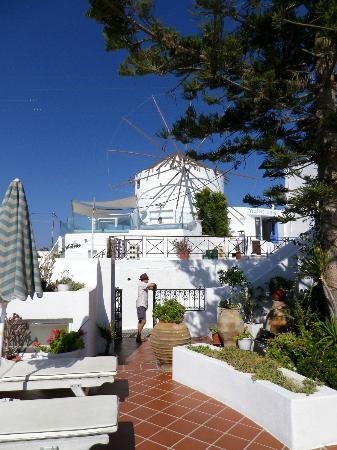 Sofia Hotel Santorini : le cafe pour le petit dejeuner
