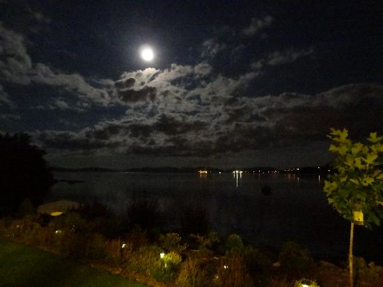 Beachside Garden B & B: Full Moon night at Beachside