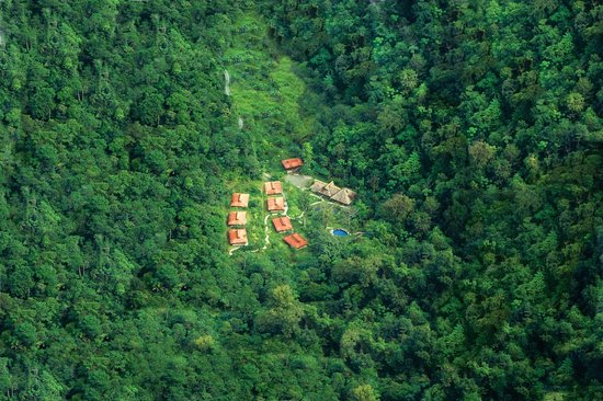Aerial view of Esquinas Rainforest Lodge