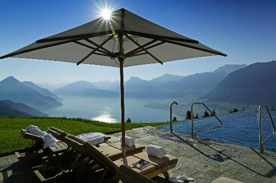 Hotel Villa Honegg: Herrgottsblick vom Poolbereich