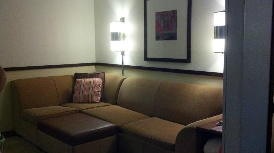 Hyatt Place Nashville Airport: separate sitting area for watching tv