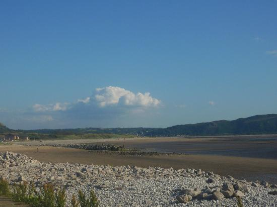 West Shore beach, looking south towards Conwy