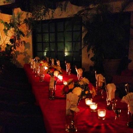 Casa Sirena Hotel: Our private candle lit dinner