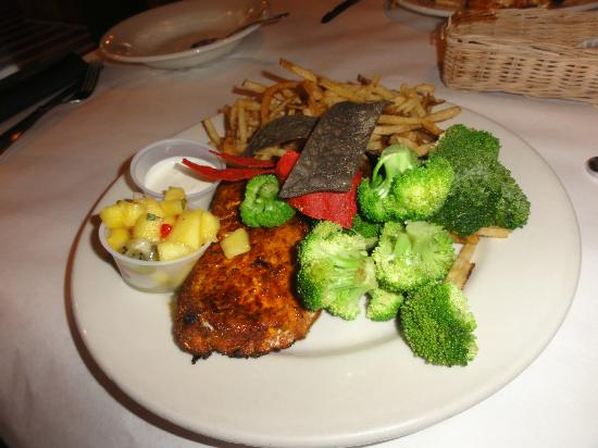 Blackened halibut picture of big fish grill rehoboth for Big fish restaurant