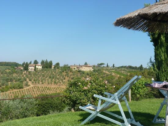 Salvadonica - Borgo Agrituristico del Chianti: View from the pool