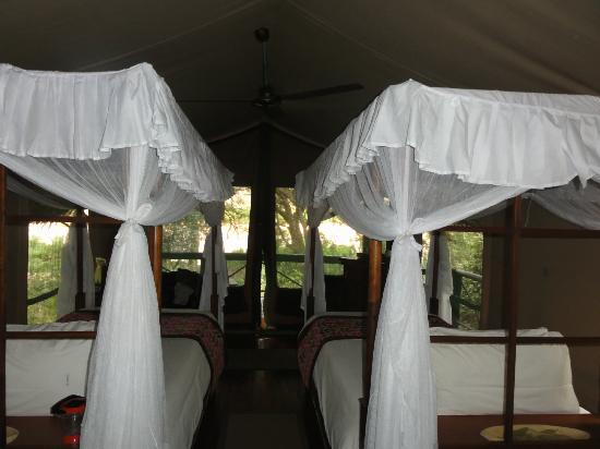 Samburu Intrepids Luxury Tented Camp : Very cute twin room with view on the river