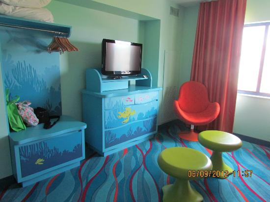Finding Nemo Suite Tv In Living Area Picture Of Disney