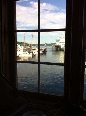 The Place Restaurant & Bar: View from our table for two! The Place, Friday Harbor, WA
