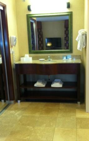 Hampton Inn Tremonton: Vanity area