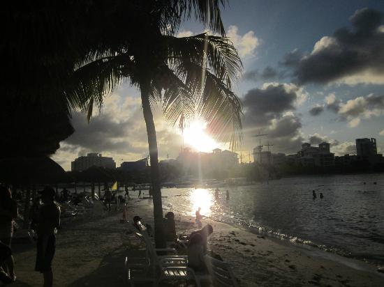Oasis Palm: Beach Bar in the evening
