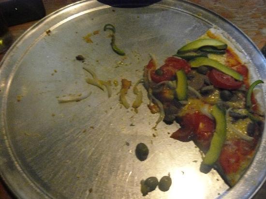 Pizzeria Edelyn: Lo que quedó de una pizza vegetariana!