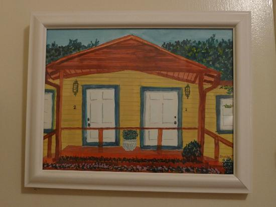 Painting of Cottages 1 and 2, Washington Street Lodging, Calistoga, CA