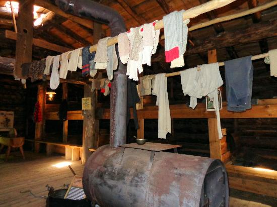 Forest History Center: Clothes drying in the bunkhouse