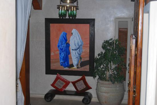 Riad Flam: zona de descanso