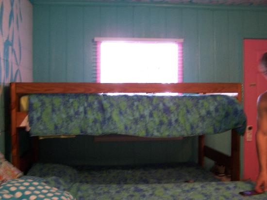 Caribbe Inn: top bunk bed - room #9