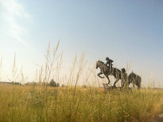 National Historic Trails Interpretive Center: Pony Express monument