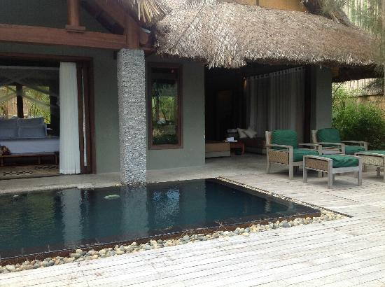 L'Alyana Villas Ninh Van Bay: Part of Lagoon side villa with plunge pool