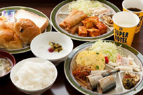 Super Hotel Kushiro: 健康朝食例