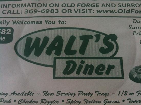 Walt's Diner: diner