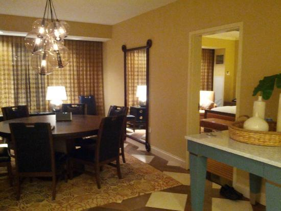 Hilton Omaha: The 'Dining room' of the suite