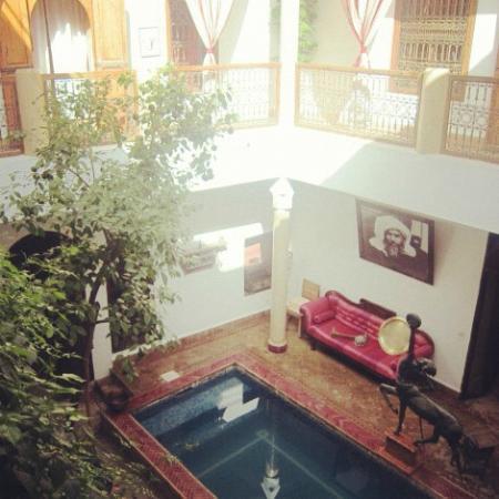 Riad El Zohar: courtyard