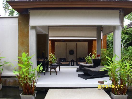 Asara Villa & Suite: Terrasse unserer Pool Villa