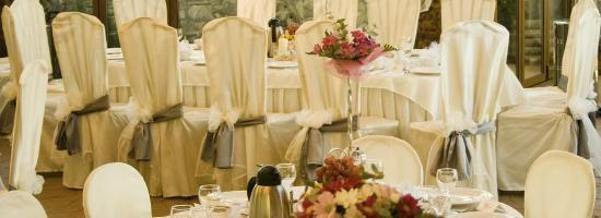Restaurant REX: Decorated Chairs In The Exterior Wedding Hall