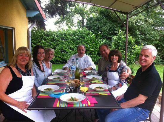 Jean Marc Villard's Cooking Class - Day Classes: Our fun class enjoying the fruits of their labour
