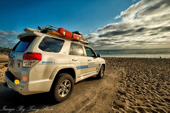 Laguna Beach, Californien:                   Life guard vehicle
