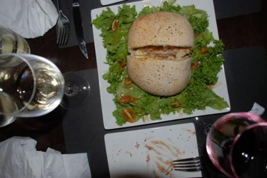 That Little Wine Bar : cornish pasty on a bed of salad!
