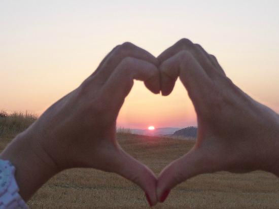 Agriturismo San Carlo: sunrise - sonnenaufgang - levata del sole