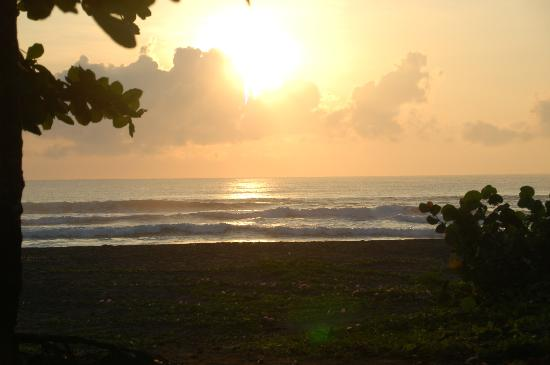 Cabinas El Icaco Tortuguero: ocean at the evening