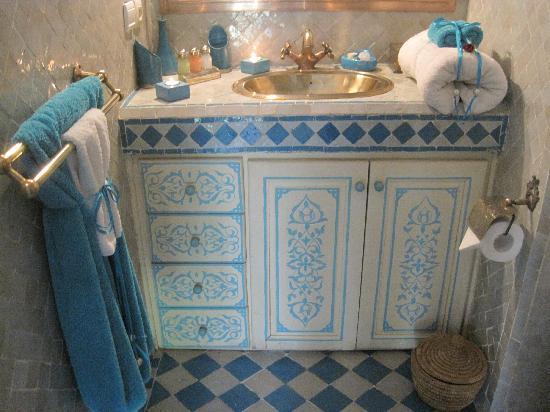 Riad Turquoise: Habitación Turquoise - Baño