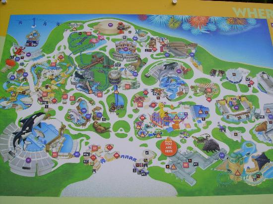seaworld map of park