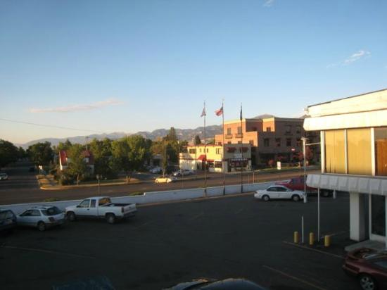 The Lewis & Clark Motel of Bozeman: view from the room (2nd floor)
