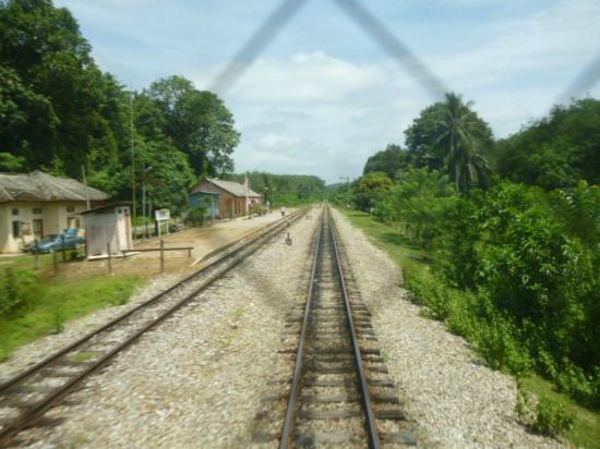 Malayan Railways: View from rear of train