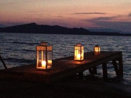 Venus Beach Hotel Bungalows: venus beach at night