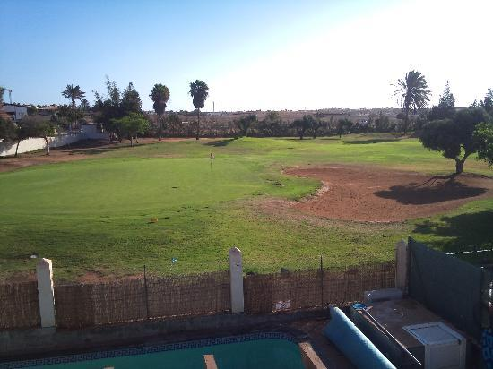 Fuerteventura Golf Club: View of 16th green from our villa