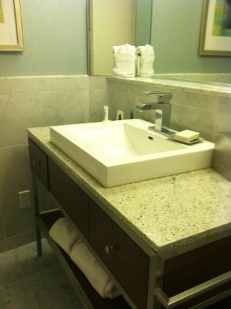 Hilton Dallas Lincoln Centre: Incredible vanity with drawers for storage