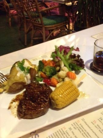Magic 1: The steak just melted in your mouth. My partner Alex ordered it and I had a taste of it too, fli