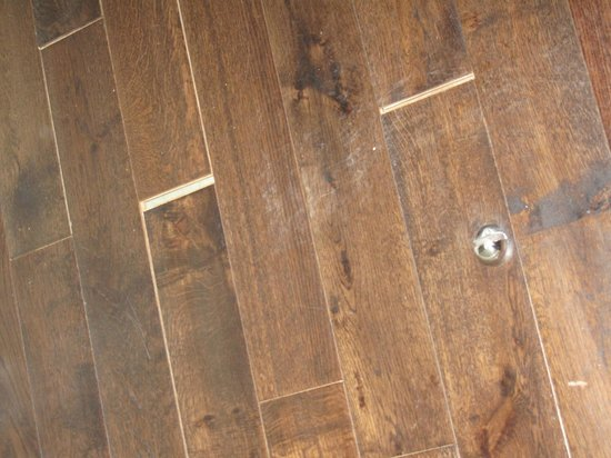 Belle Epoque: wooden floor in our bedroom